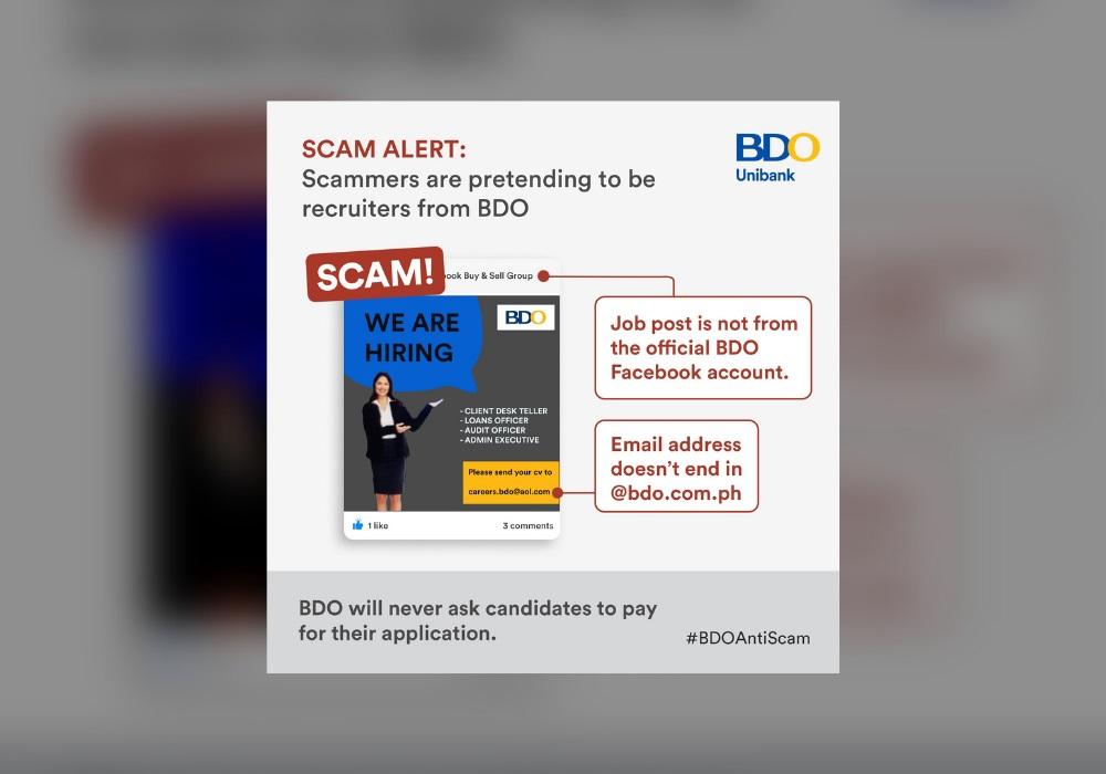 BDO Recruitment Scam